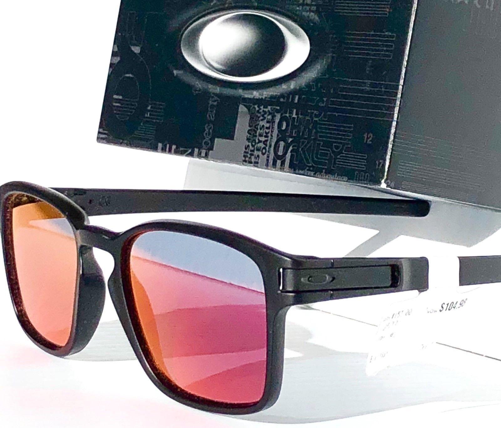 0b9455eccc NEW Oakley LATCH SQ Matte BLACK w TORCH Iridium lens Sunglass oo9358 ...