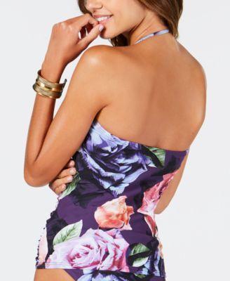 4029313070ee7 La Blanca Bloom Field Printed Bandeau Tankini Top Women Swimsuit in ...