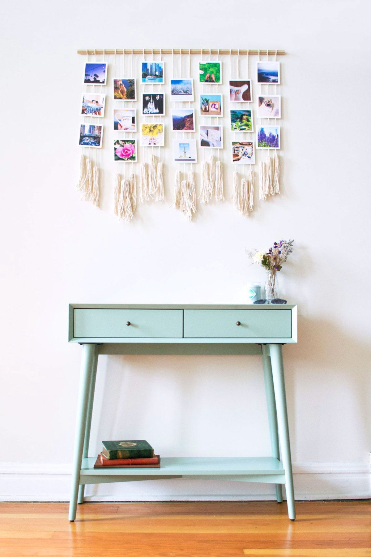 Macrame photo wall hanging u urkart girls bedroom pinterest