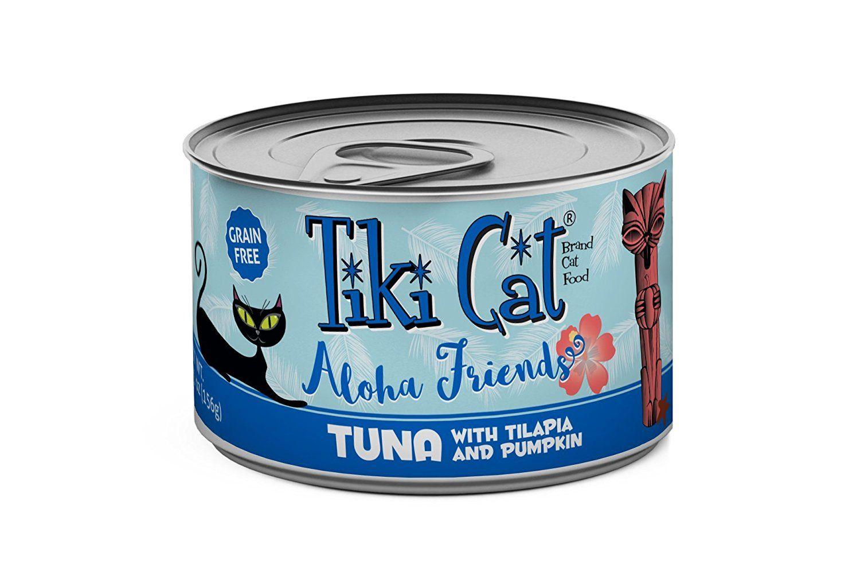 Tiki Cat Aloha Friends 5 5 Oz Can 8 Tr Tuna Tilapia Pumpkin