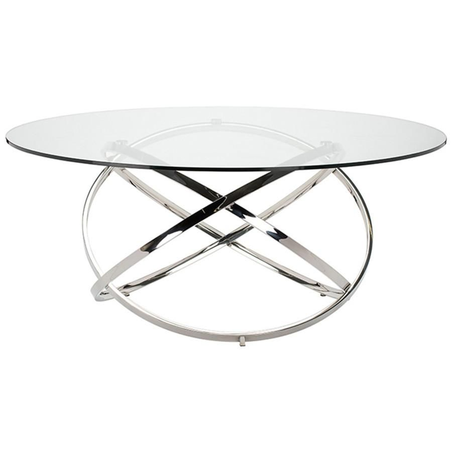 Nuevo Living Infinity Clear Dining Table Dining Table Glass