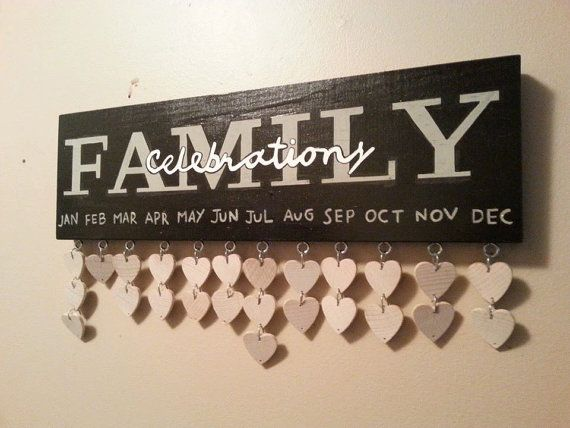 Family Celebration board / wooden Birthday by JulieEvesWoodworking