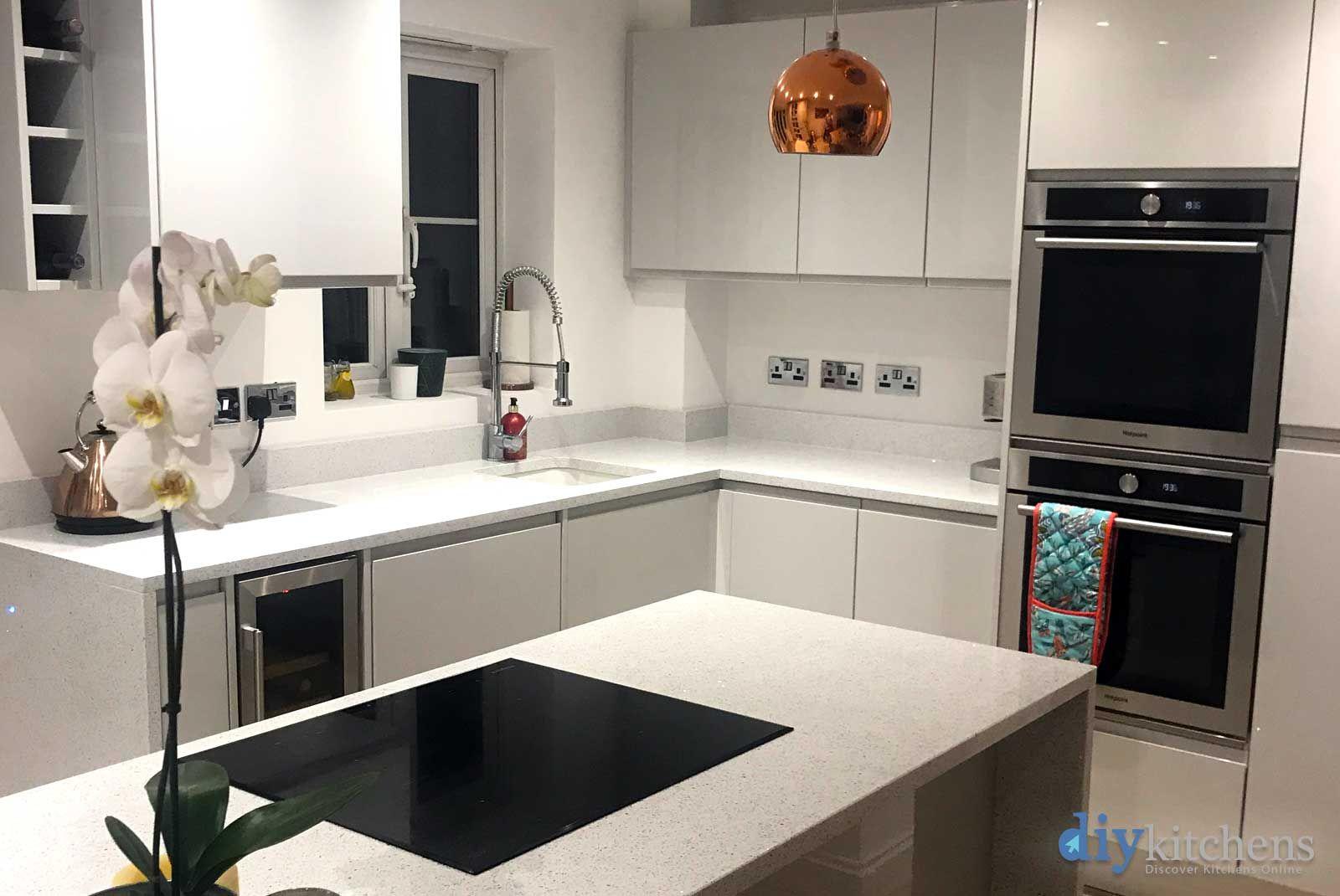 Best An Innova Luca Gloss Dove Grey Handleless Kitchen 400 x 300