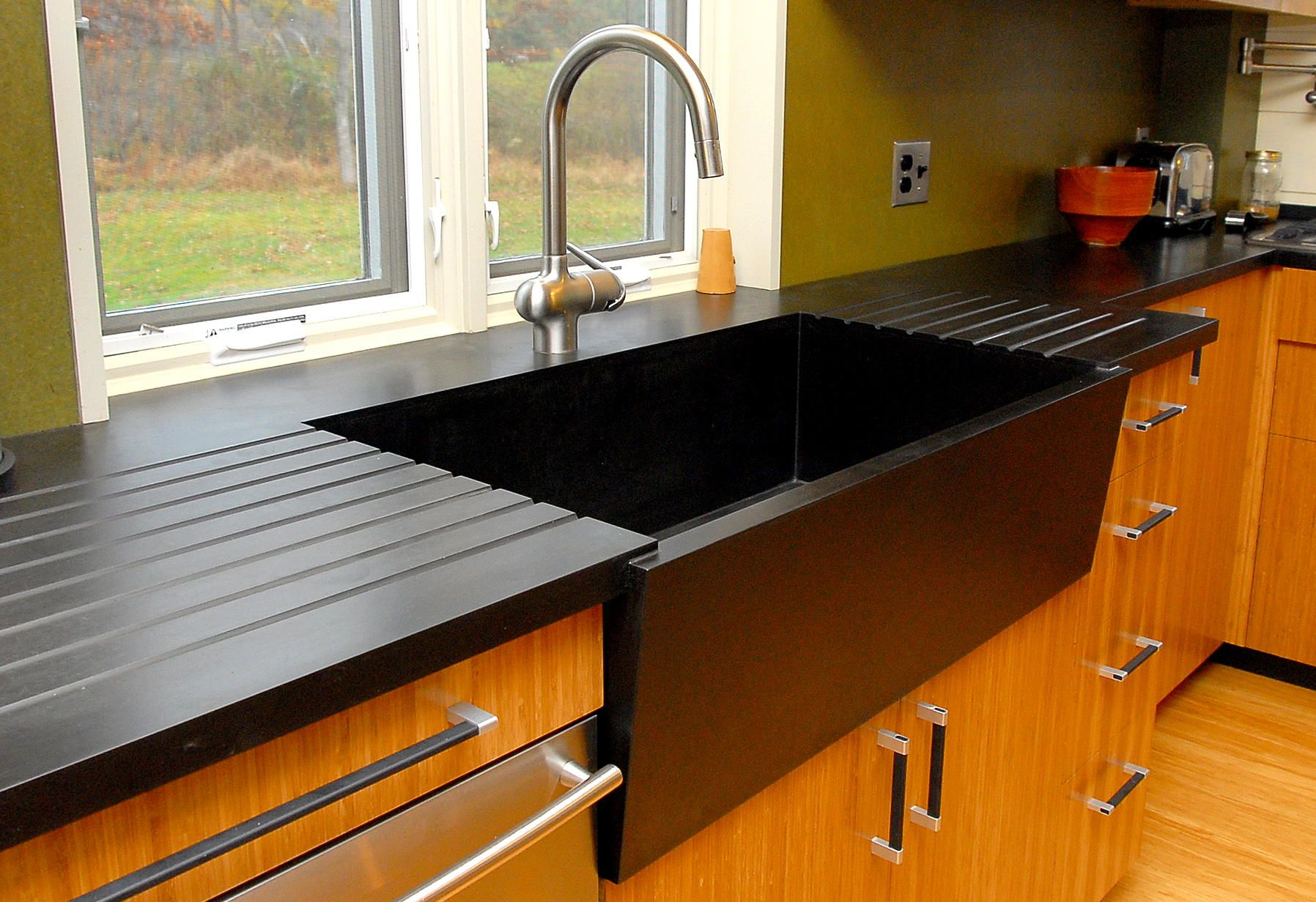 Beautifully machined Black Diamond Richlite countertop for a ...