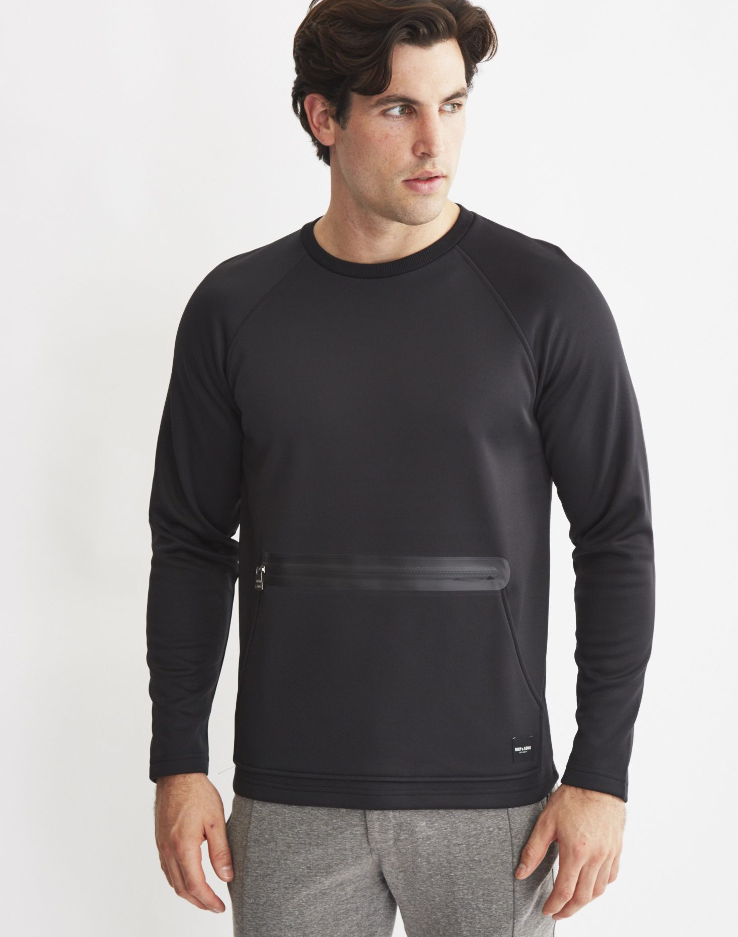 a7a47bb1 Buy Only & Sons Mens Scuba Sweatshirt With Kangaroo Zip Pocket Black,  starting at £14. Similar products also available. SALE now on!