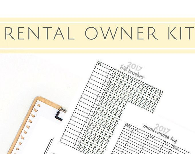 PRINTABLE A5 Planner Pages, Rental Property, Property Management