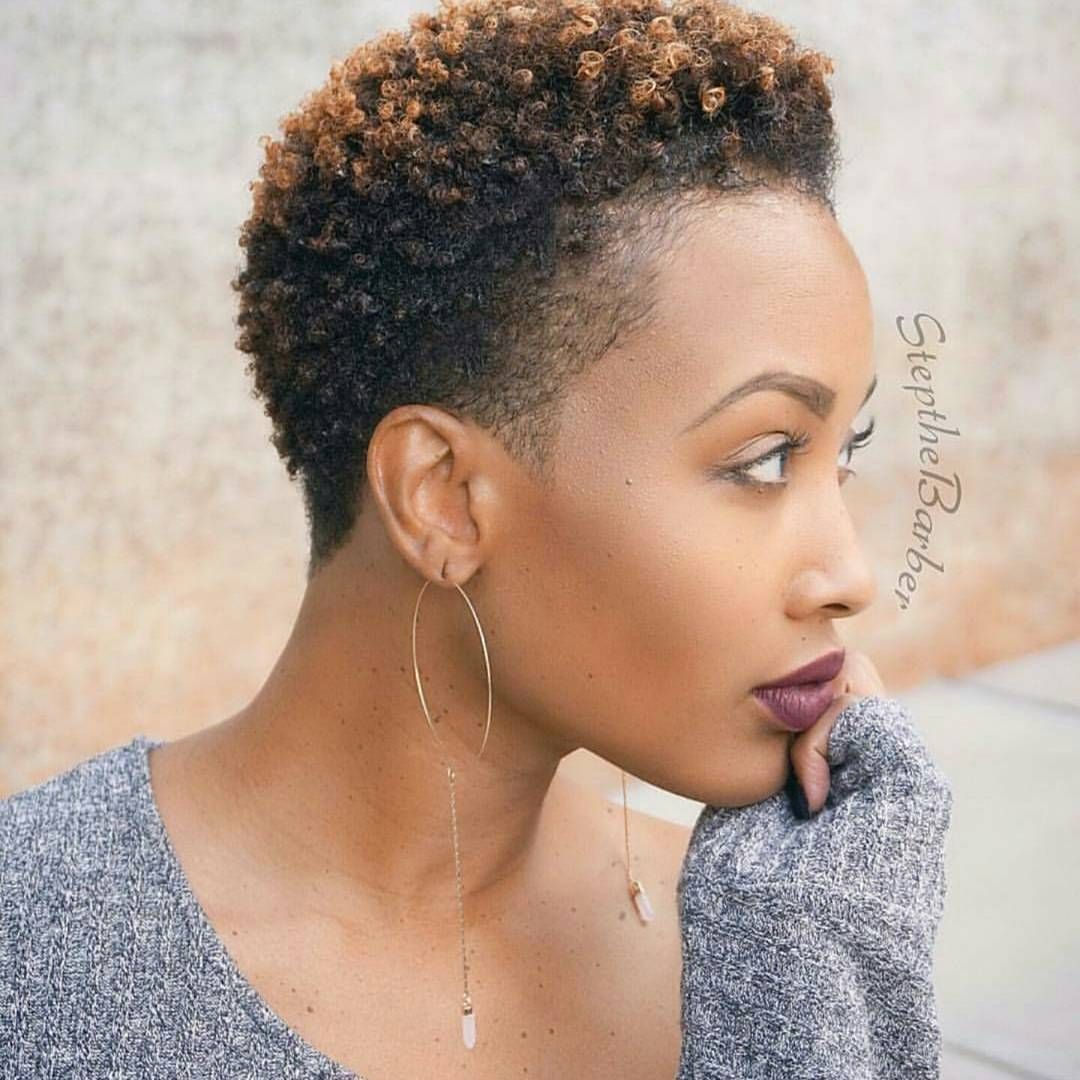 Natural hairstyles for short hair black women hair and tattoos - See 17 Hot Tapered Short Natural Hairstyles