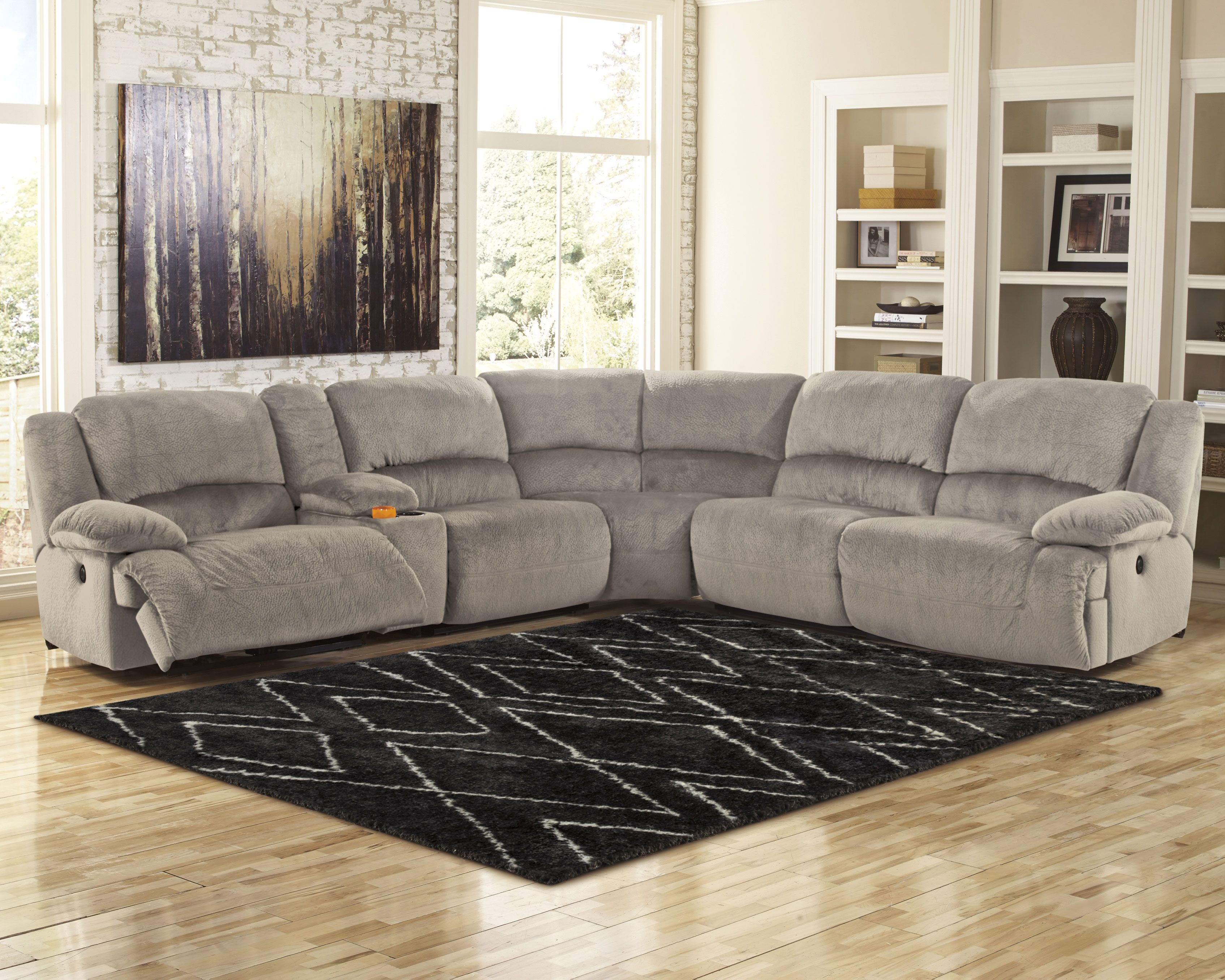 Toletta 6 Piece Sectional Granite Reclining Sectional