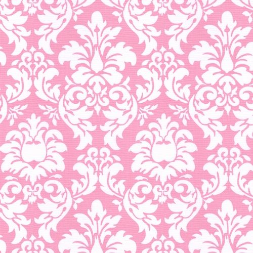 Candy Pink Damask Fabric By The Yard
