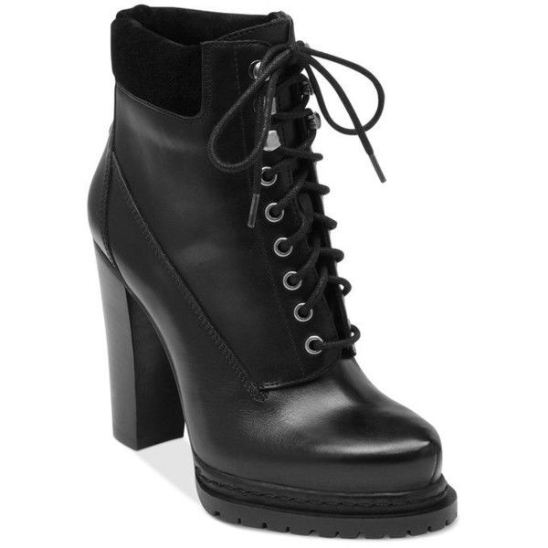 eb240c88ed23 BCBGeneration Martins High Heel Combat Booties ❤ liked on Polyvore  featuring shoes