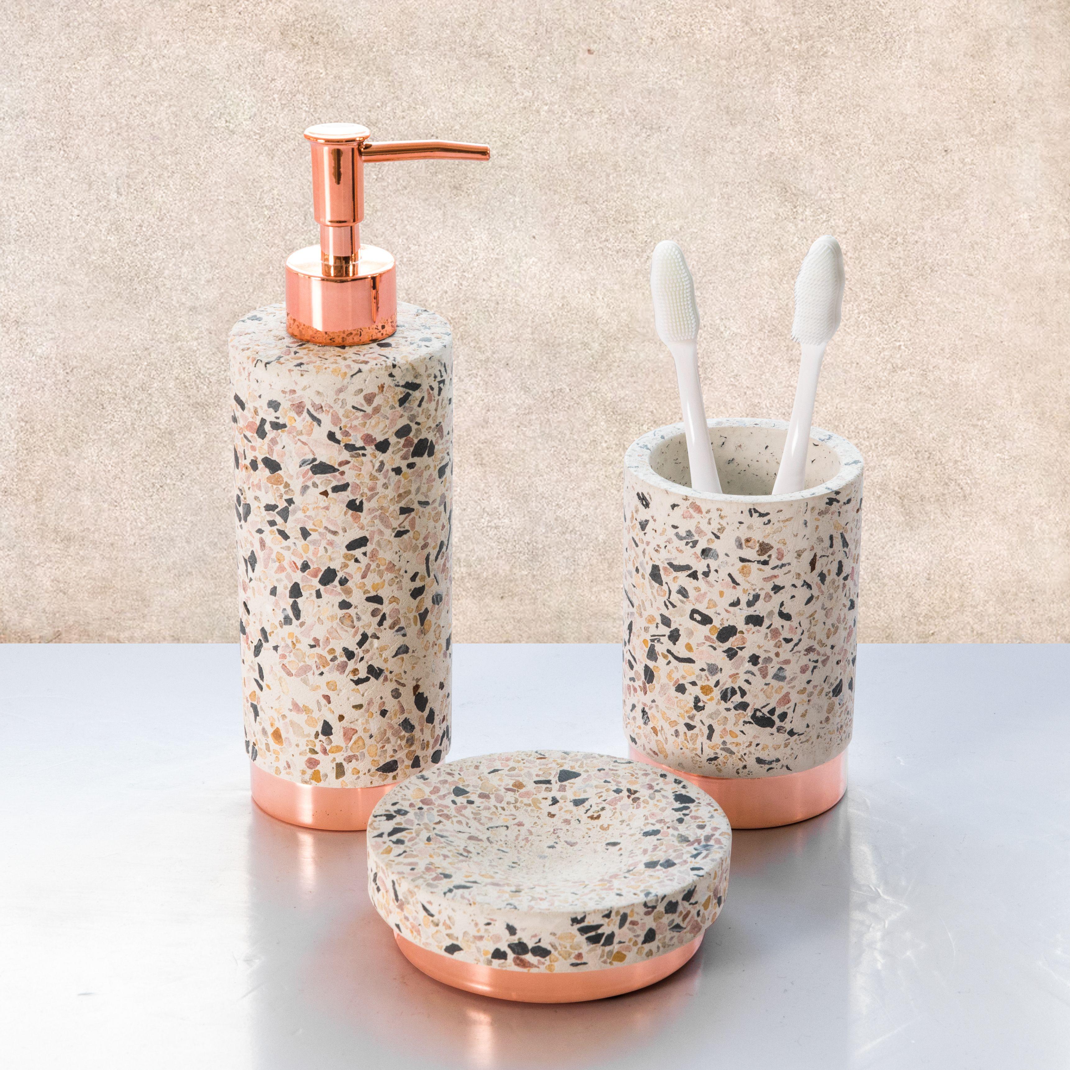10++ Terrazzo bathroom accessories info