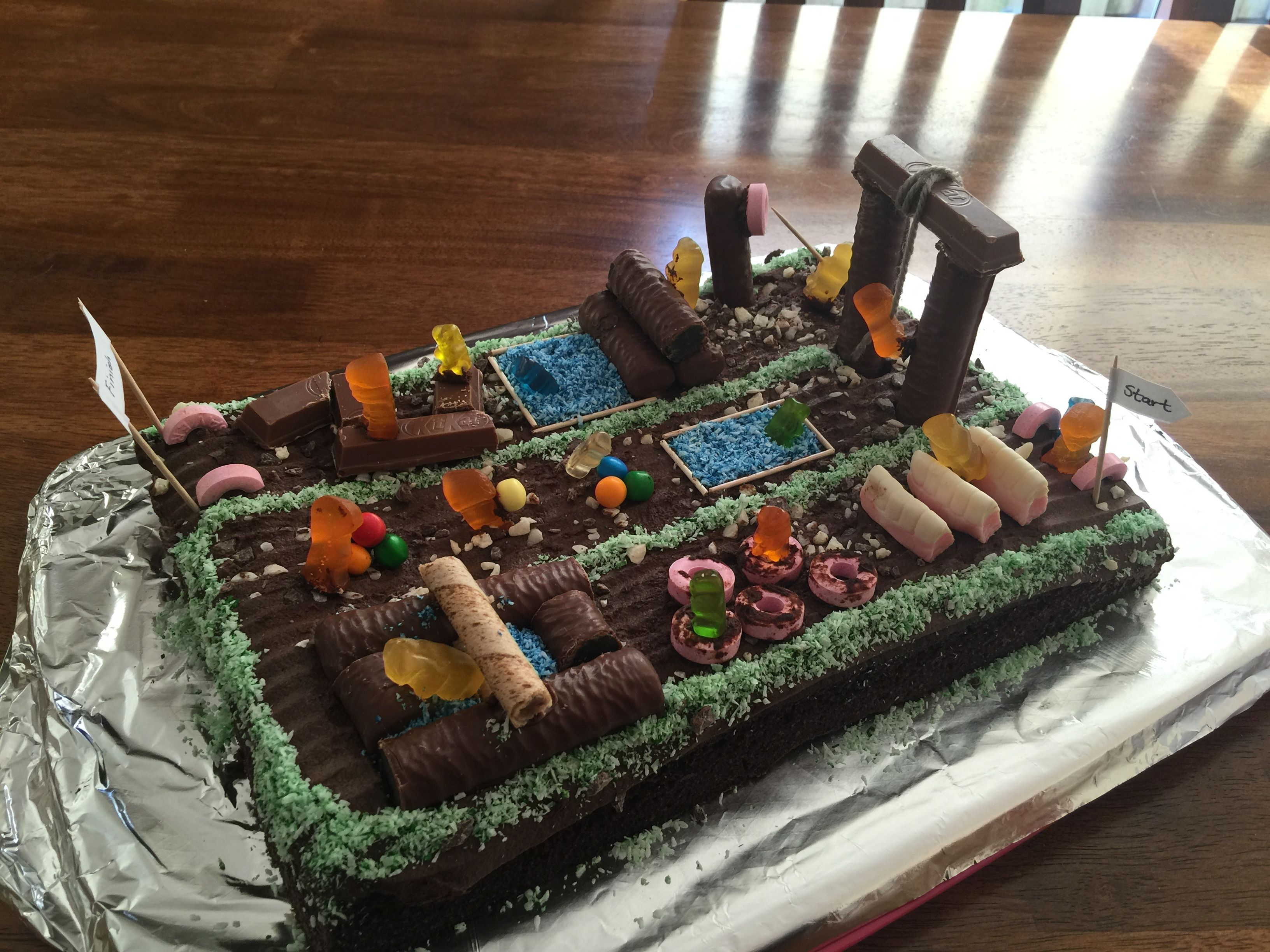 Cake I Made For My Husband Who Loves Obstacle Races Sports Cakes