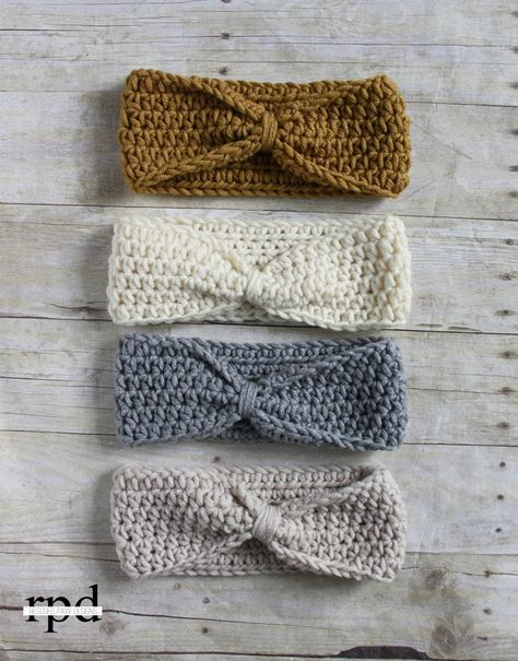 Knotted Headband Crochet Pattern Multiple Sizes Headband Crochet