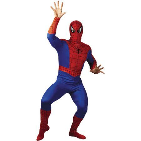 Spider-Man Adult Halloween Costume - Walmart.com  sc 1 st  Pinterest & Spider-Man Adult Halloween Costume Size: Mens Large-XL (42-46) Red ...
