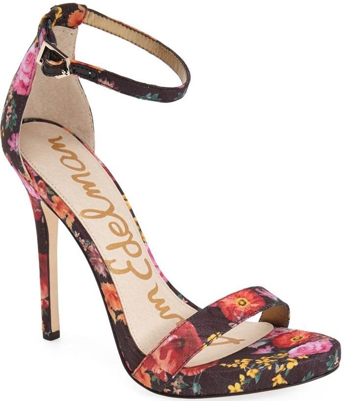 f480618046daae Sam Edelman  Eleanor  Ankle Strap Sandal Black Floral