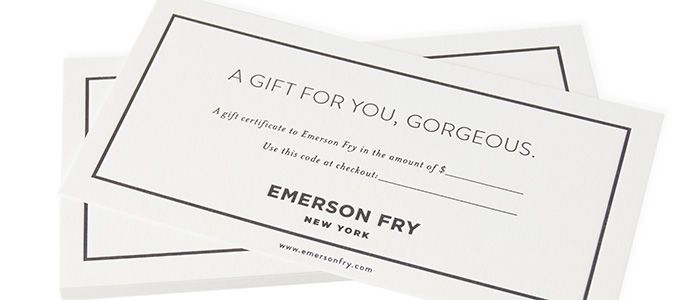 creating gift certificates for your company is a great way to give