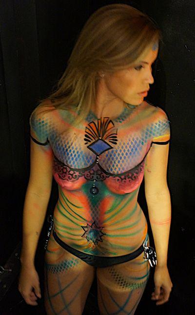 0990bc7e8 Colorful Airbrush Body Paint by Audette Sophia | Audette Sophia's ...