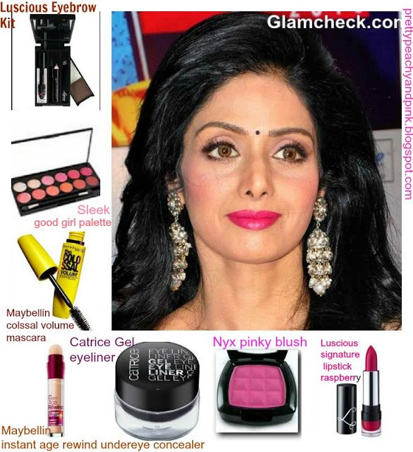 PrettyPeachyandPink: LUSCIOUS SIGNATURE LIPSTICK IN RASPBERRY.Sridevi's look break down for those who like to keep it traditional.