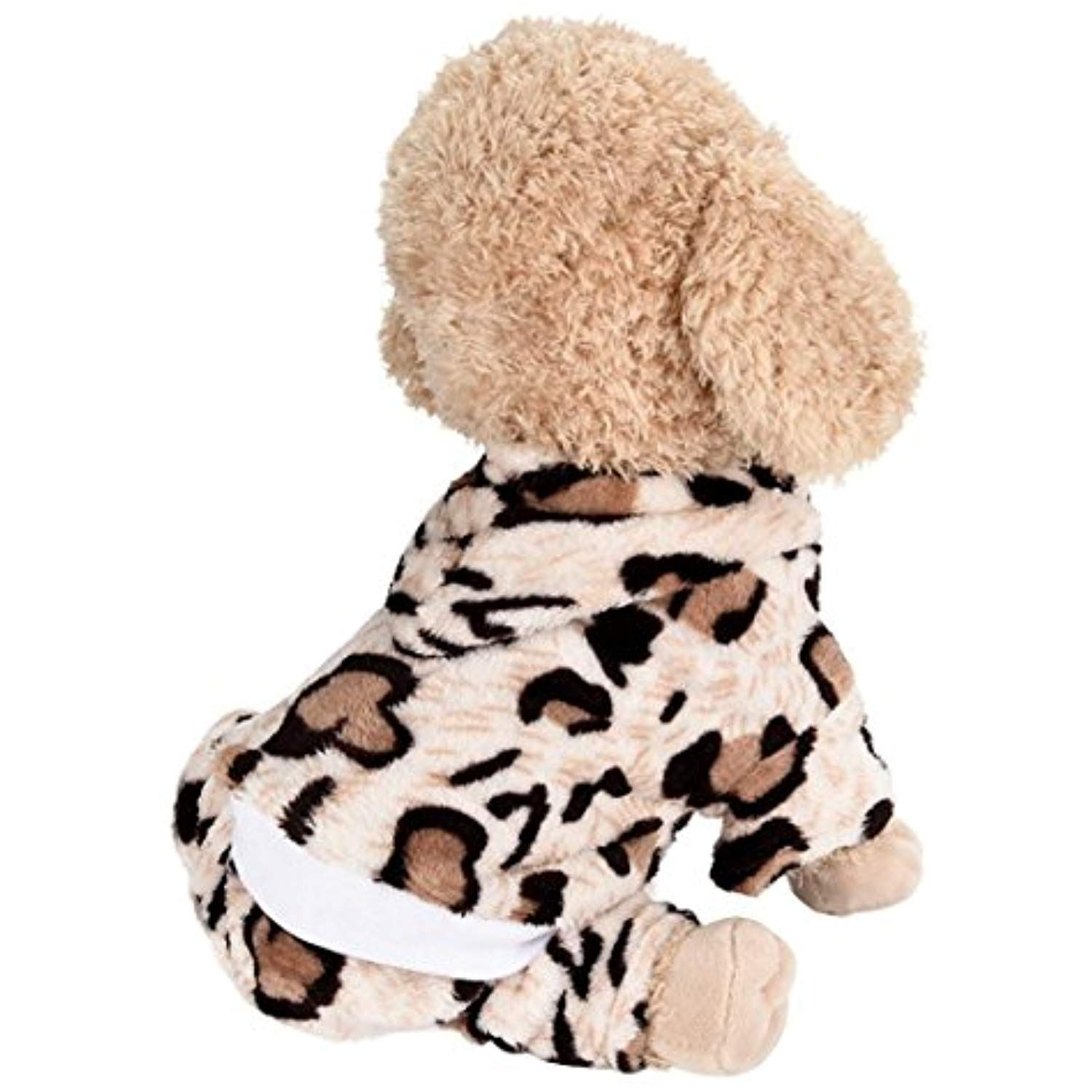 a17d01351c62 WensLTD Cute Leopard Xmas Pet Clothes for Dog Pajamas Soft Christmas PJS  (XS