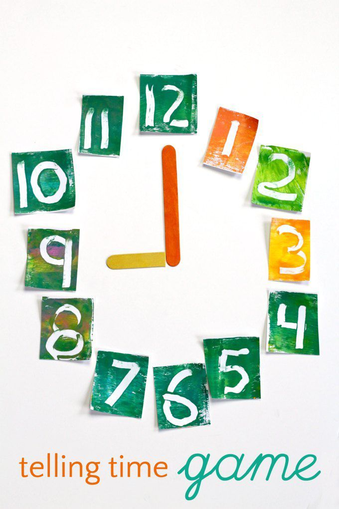 Fun Telling Time Game that Also Teaches Math and Literacy ...