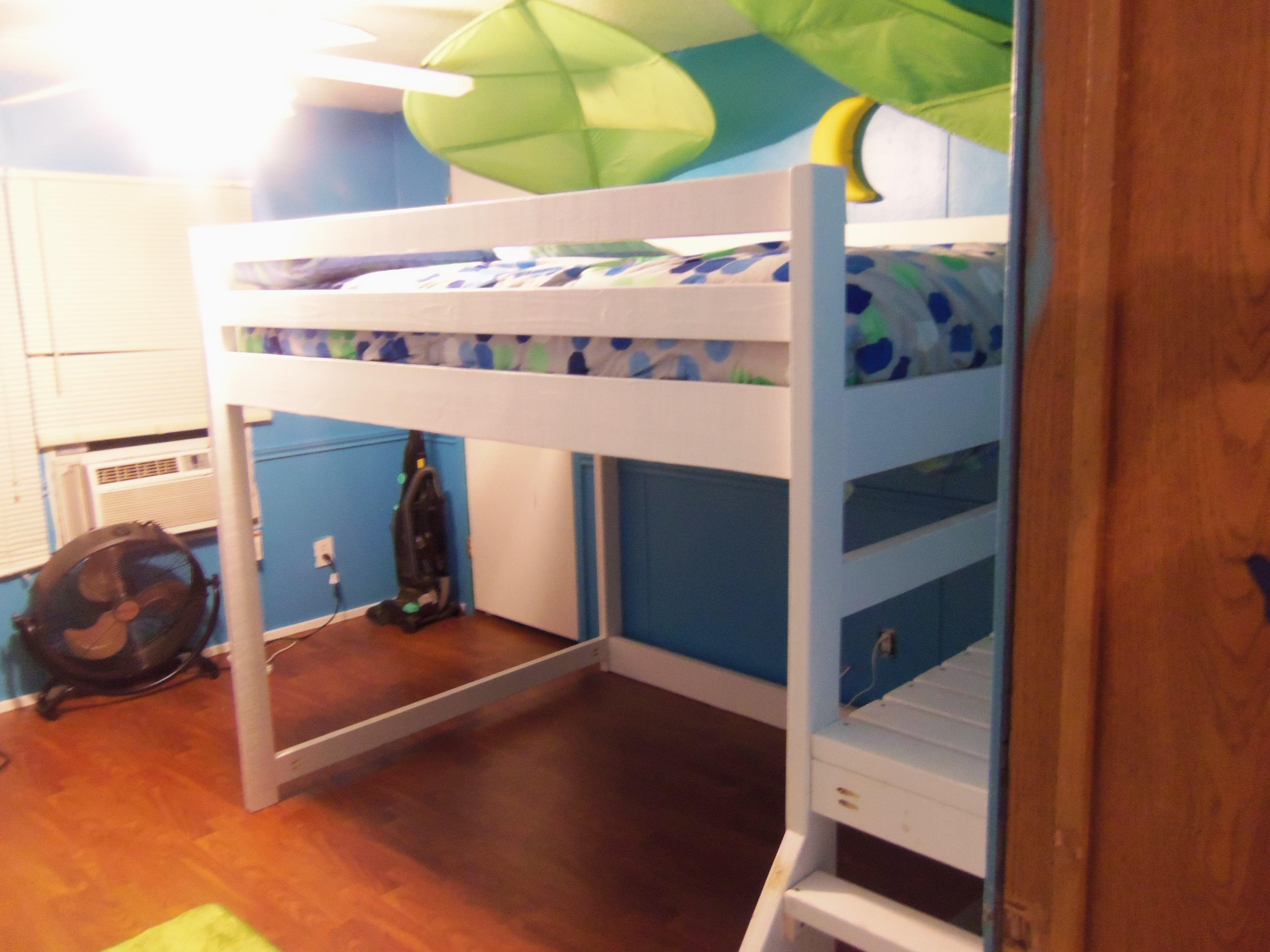 Jacob's new bed Loft bed, Diy bunk bed, Bedroom furnishings