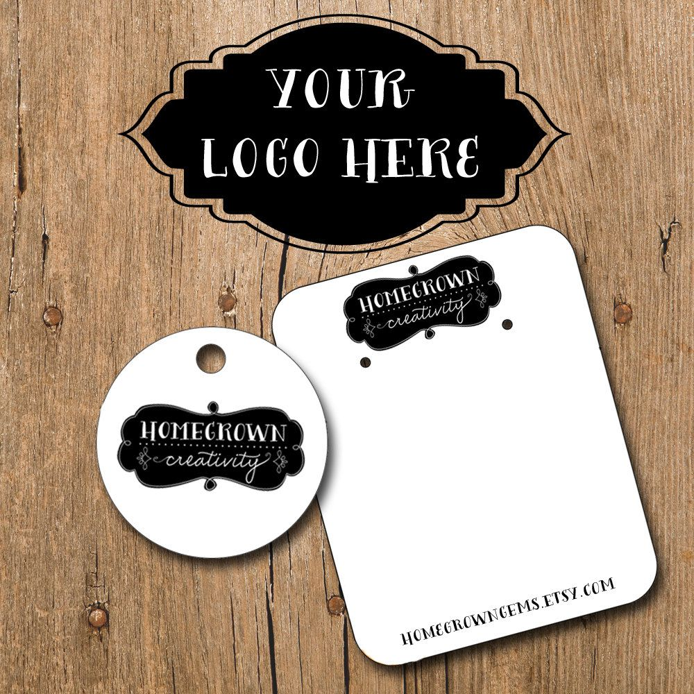 Customized Earring Cards With Your Logo Image Necklace Price Tags Hang Thank You Hair Clips Product 38 00 Via Etsy