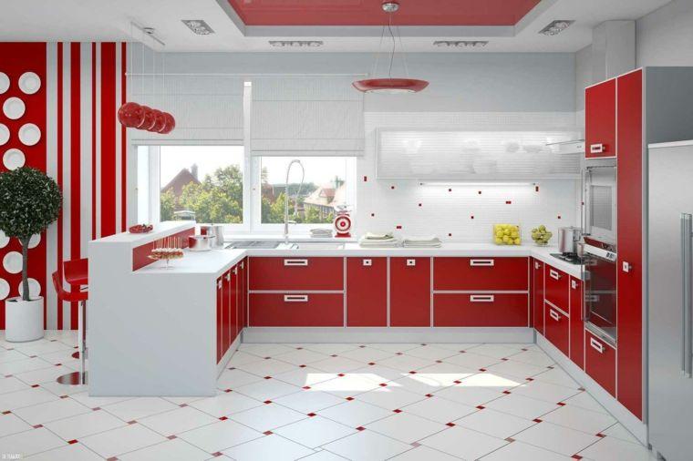 cocinas rojas y blancas descubre la nueva tendencia de 2016 - Cocinas Rojas Y Blancas