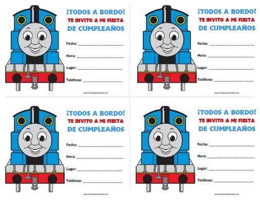 Invitaciones de Thomas y sus Amigos para Imprimir | Frascos ...