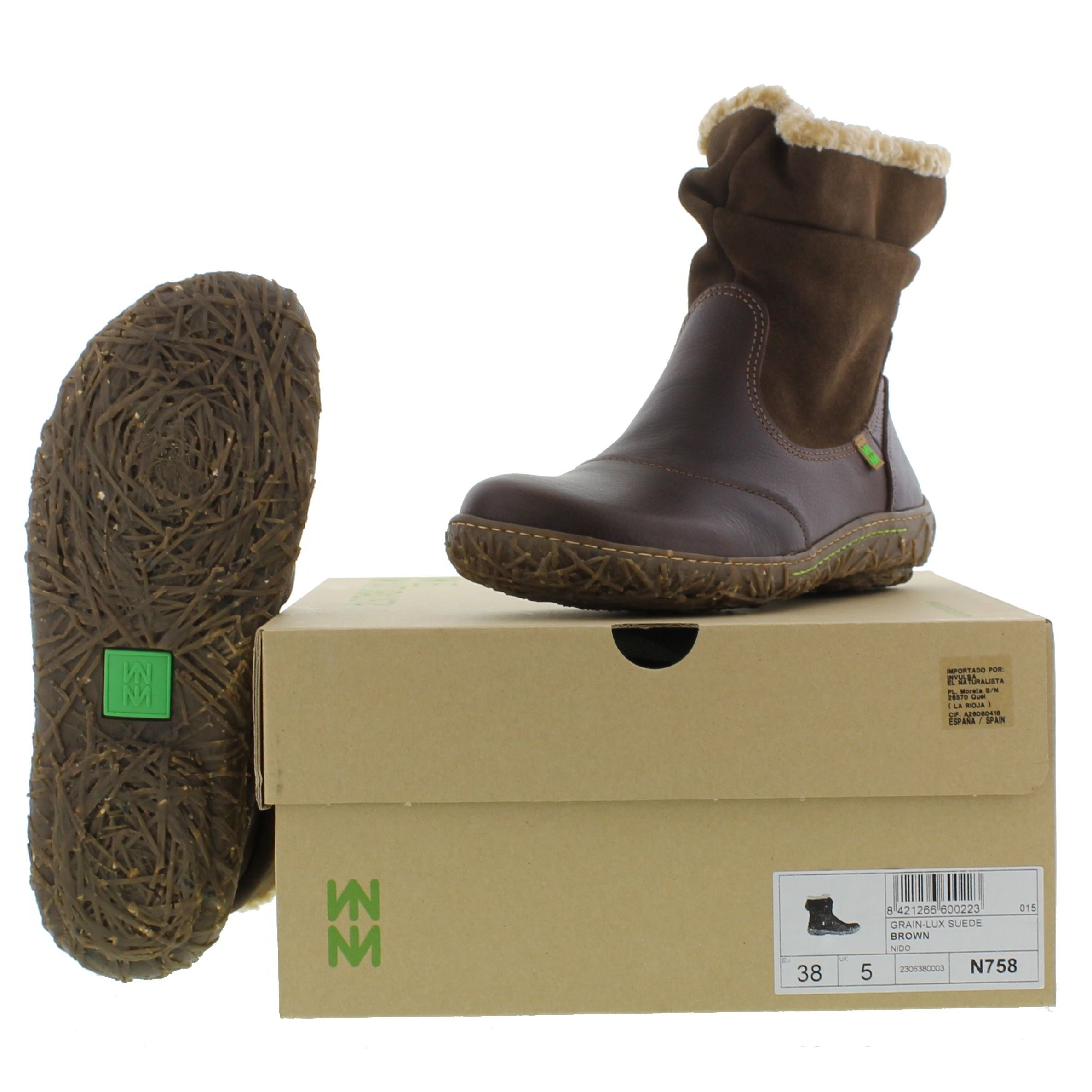 Brown Naturalista New Nido 99 Boots El N758 Ankle Womens £104 ZYqnwd7