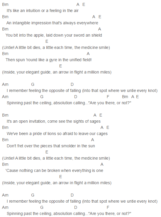 Capo 2 Absolution Calling Chords Incubus Incubus Pinterest