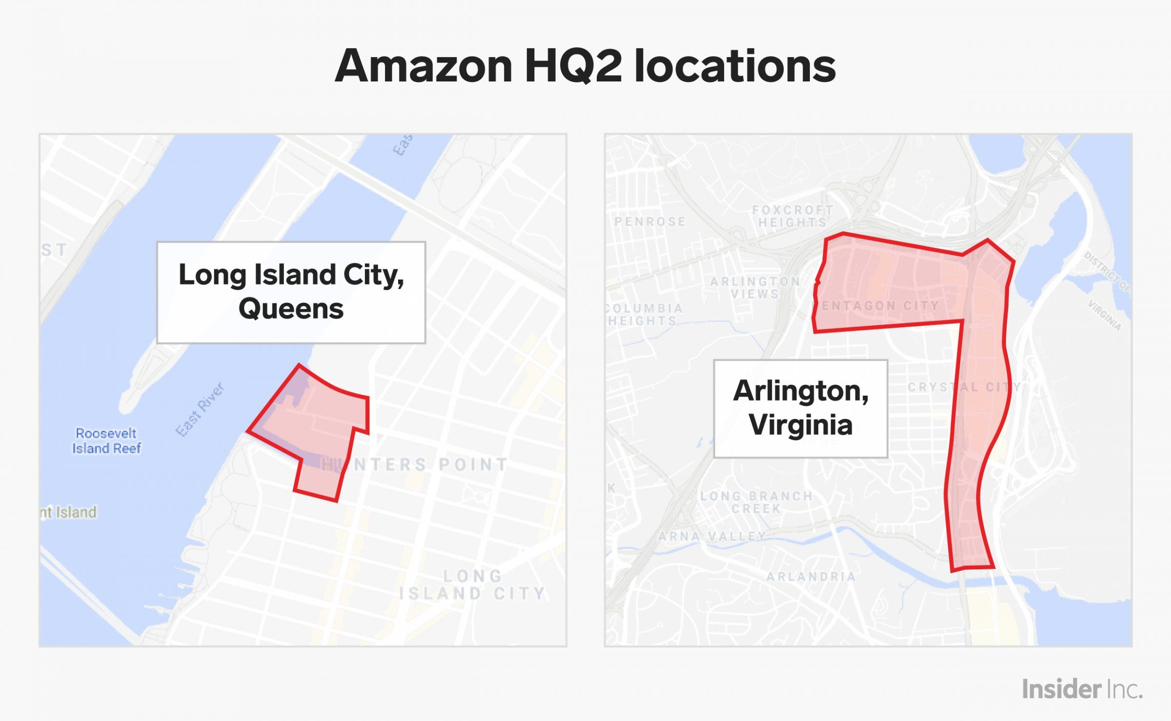 Amazon Apparently Knew For Months That It Would Split Up Its Second Headquarters Virginia Island City Amazon