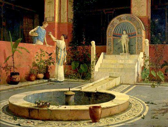 Il giardino romano romanoimpero.com antiquitates pinterest