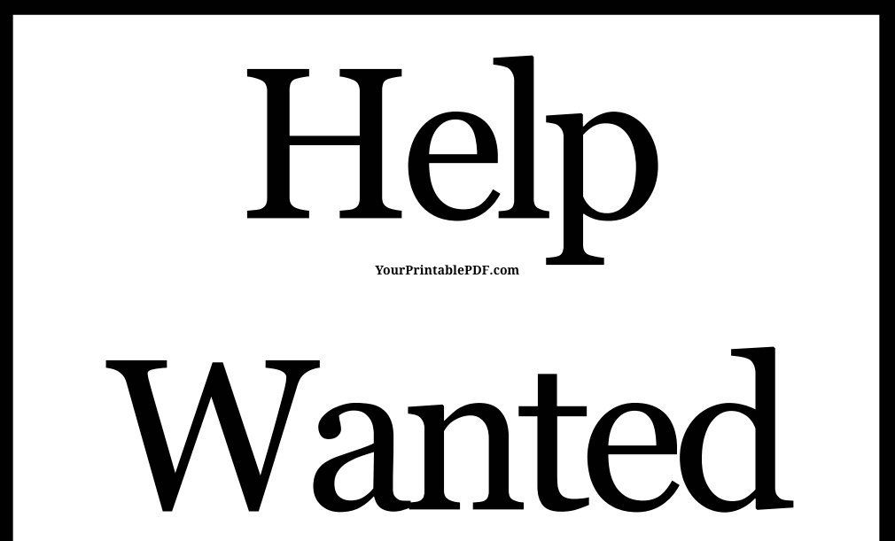 photograph about Printable Help Wanted Sign known as Printable PDF Support Preferred Indication Printable House Signs and symptoms Guidance