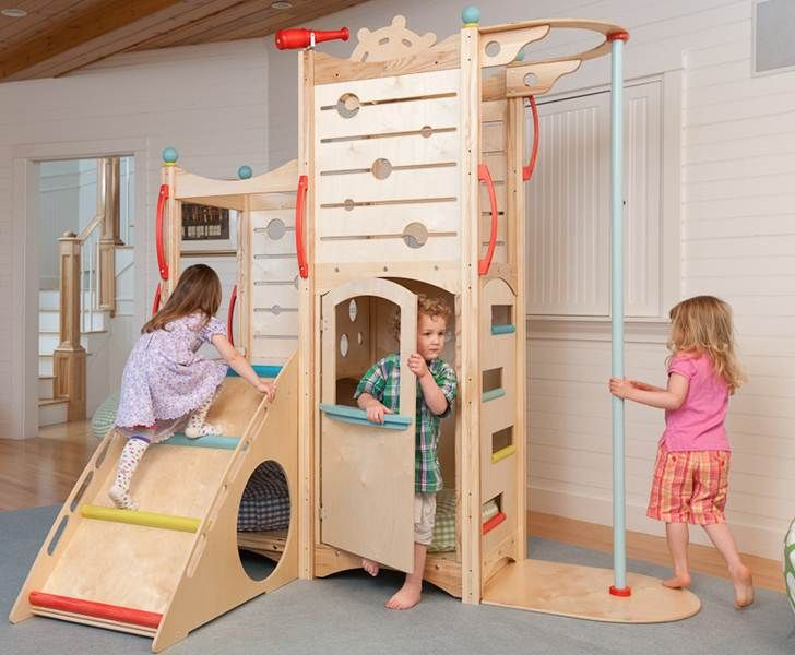 Captivating CedarWorks Rhapsody Indoor Playsets And Playhouses Bring Active Play Inside  All Winter Long