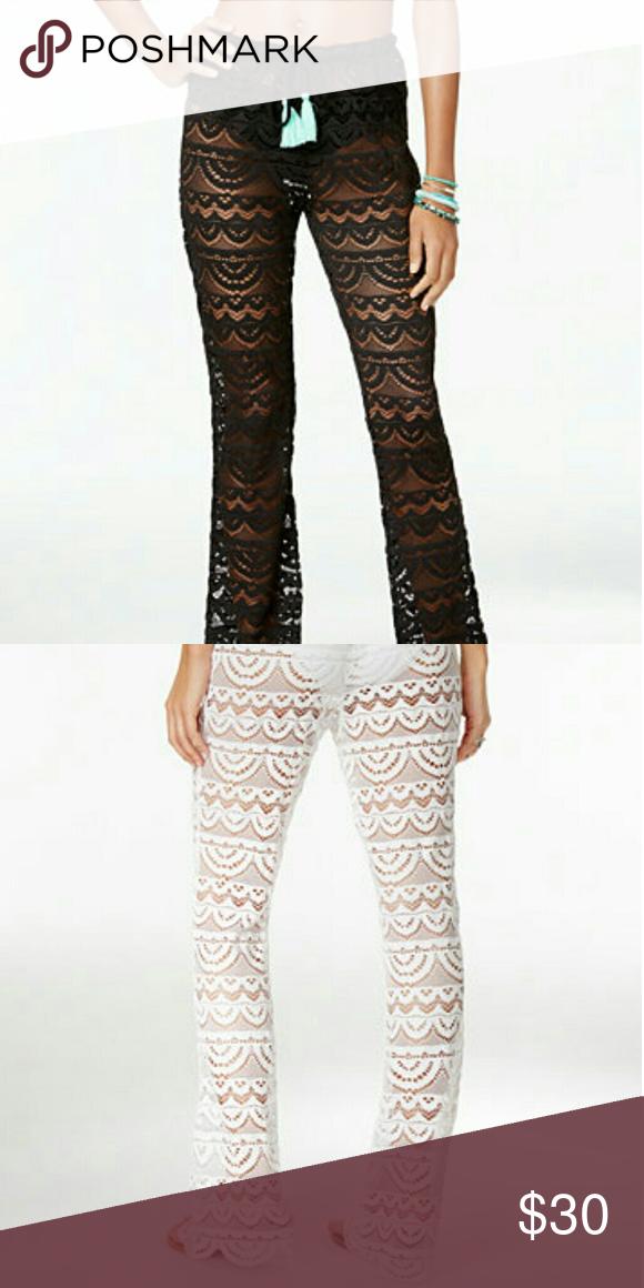 f6ba94ce40b62 LAST ONE!! Black Crochet Swim Cover-up Super cute scalloped crochet ...