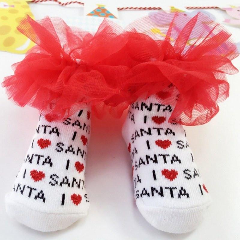 I love santa childrens fancy socks fancy socks baby