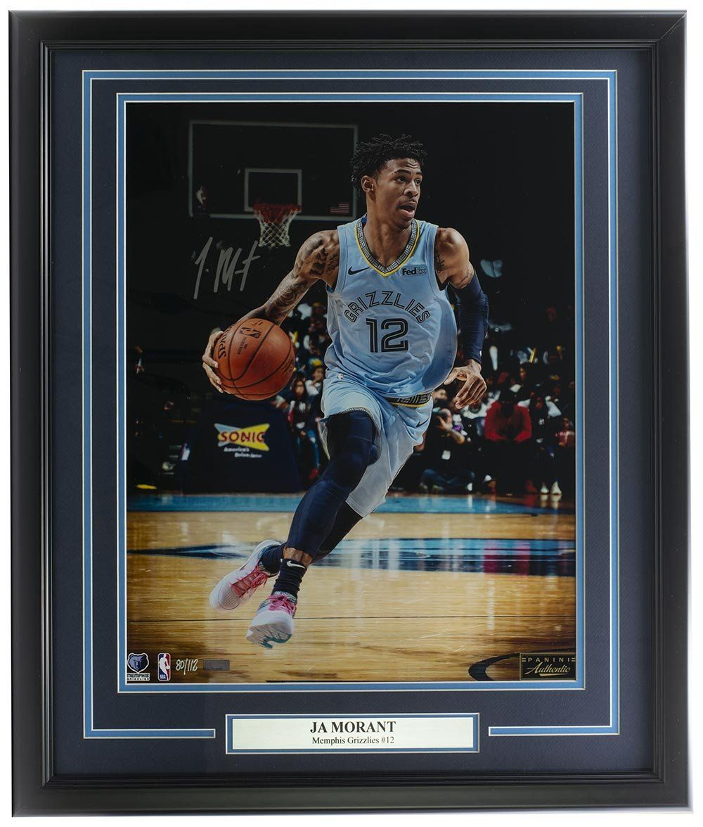 Ja Morant Memphis Grizzlies Signed Framed 16x20 LE Photo