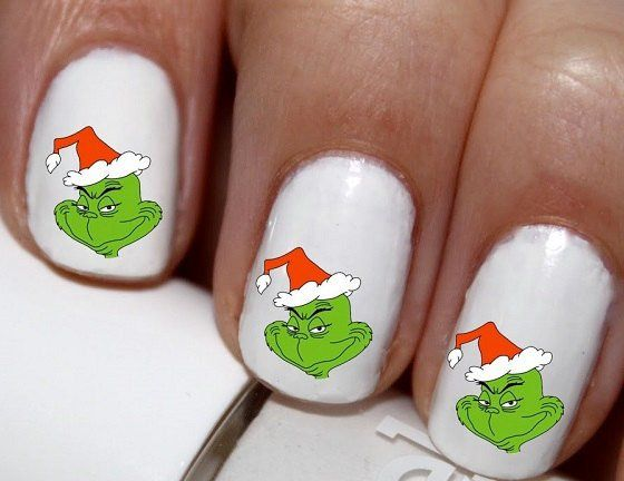 20 Pc How The Grinch Stole Christmas Grinch Face Outline Winter