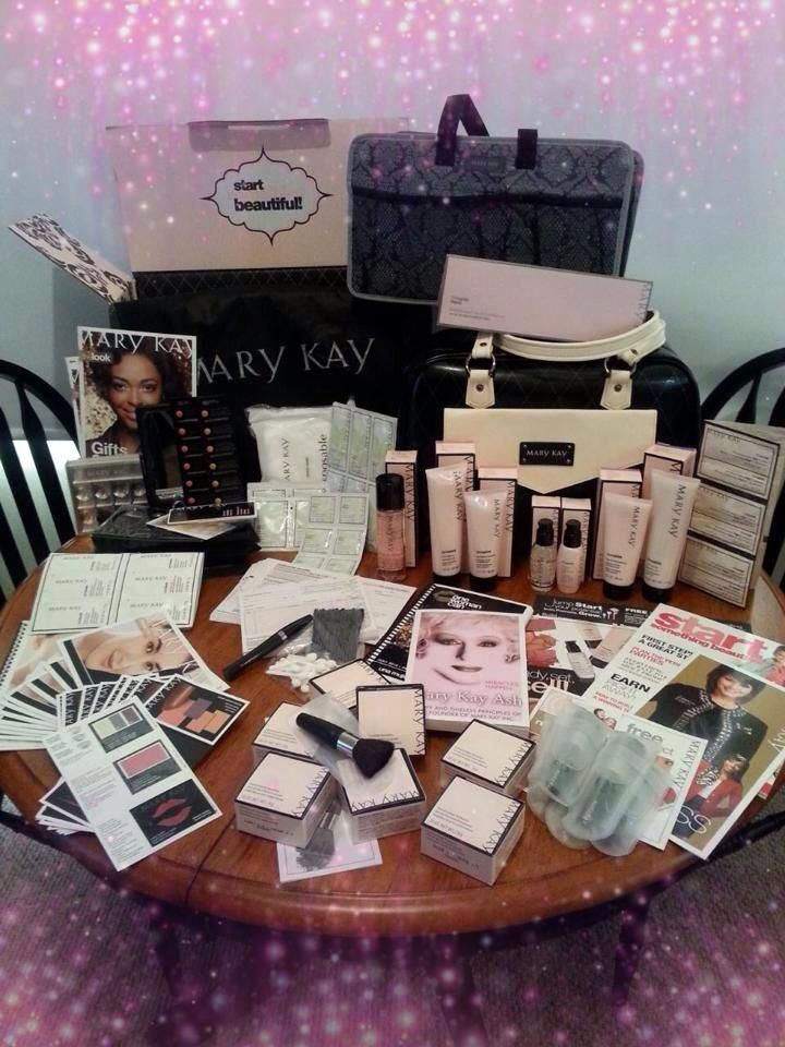 This is a Mary Kay Starter Kit! Almost 500 worth of