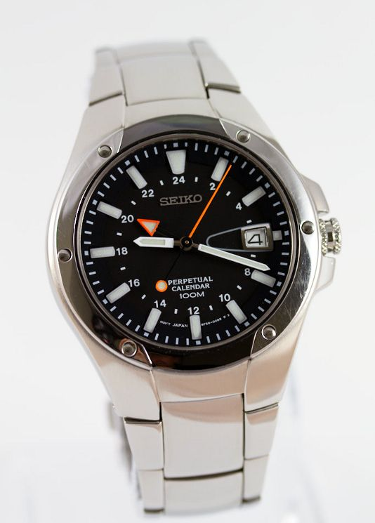 A Seiko Slt047 Gmt Watch With Perpetual Calendar And High Accuracy