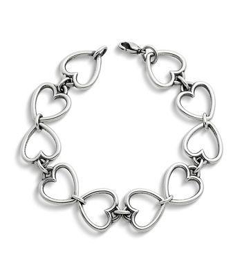 b0d037a78e7a3 Open Heart Link Charm Bracelet | James Avery | James Avery Jewelry ...