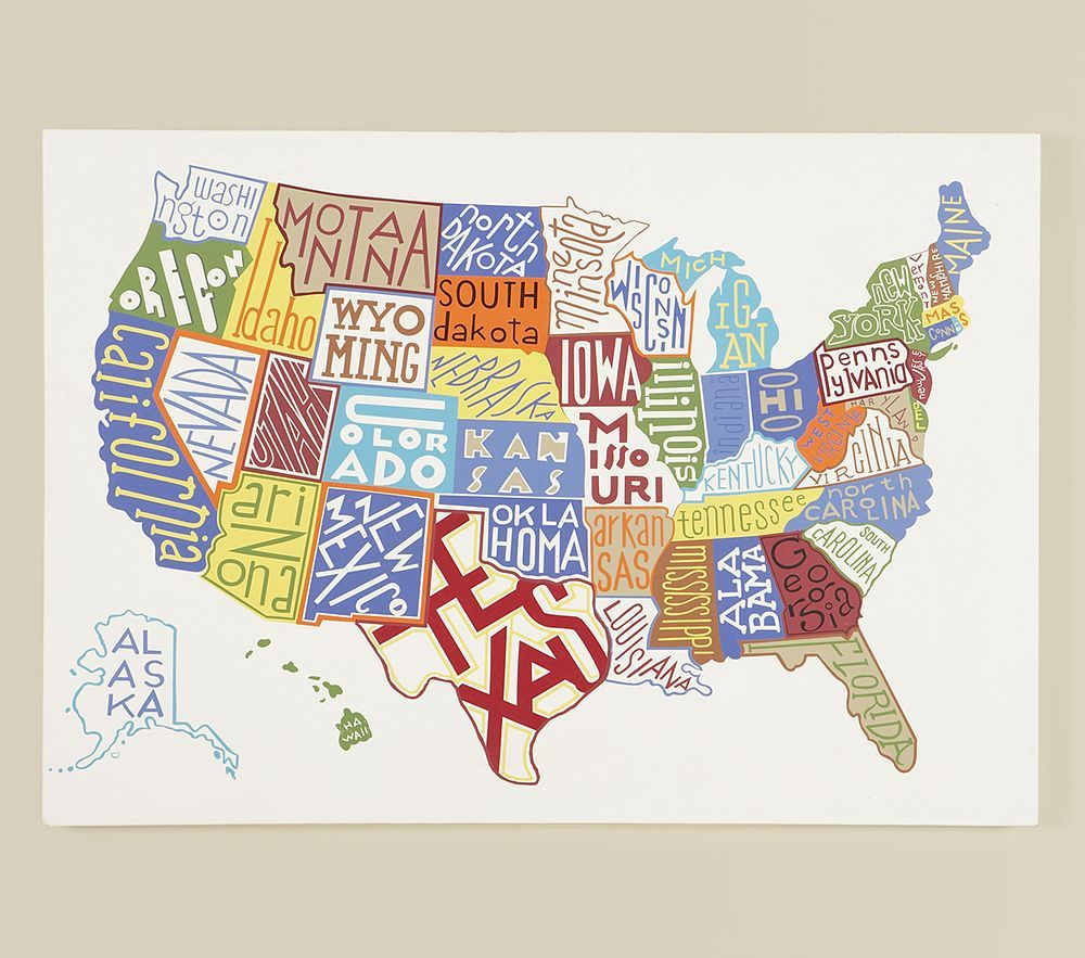 Make A Visit To Every State Bucket List Pinterest Typography - Us map state list