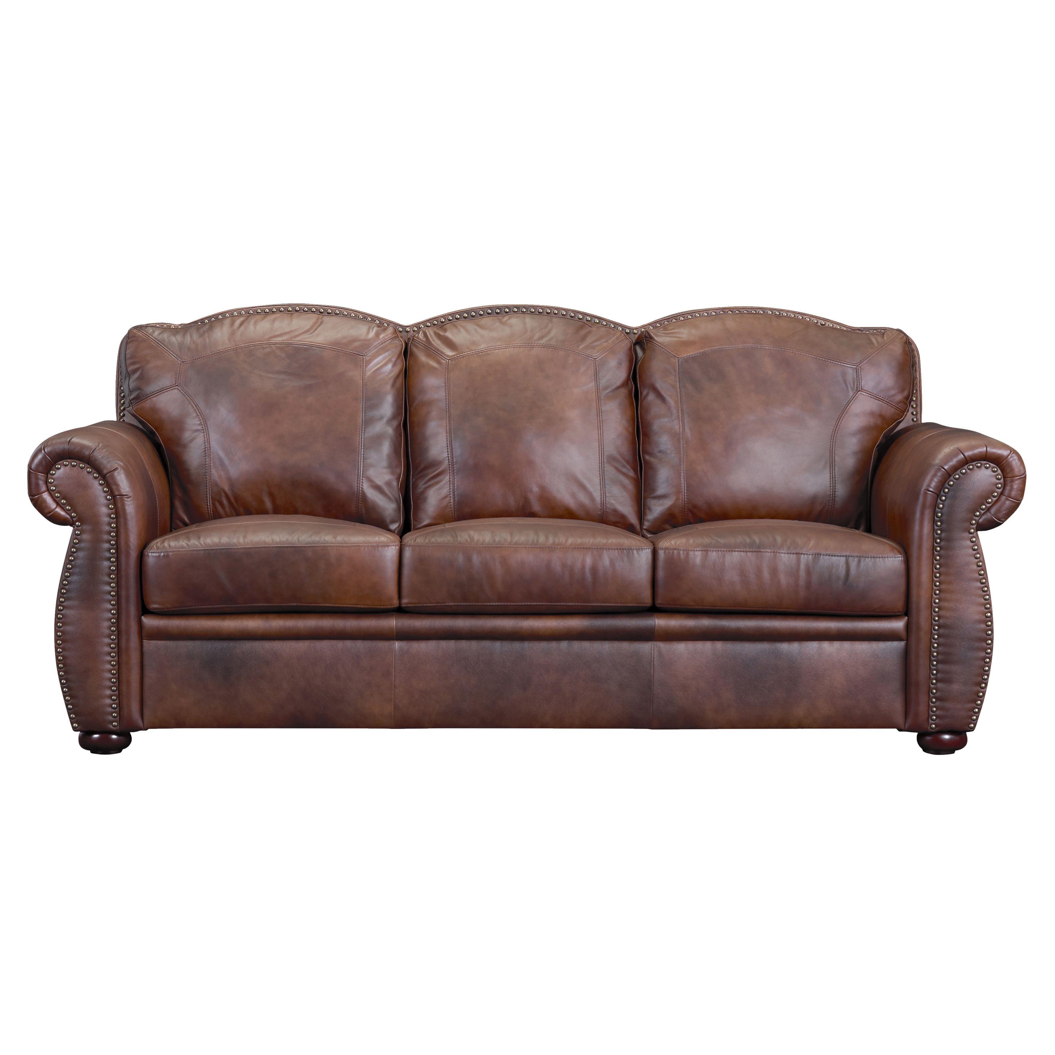 Phoenix Marco Brown Leather Sofa Foam