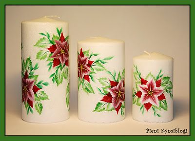 Hand paint candles