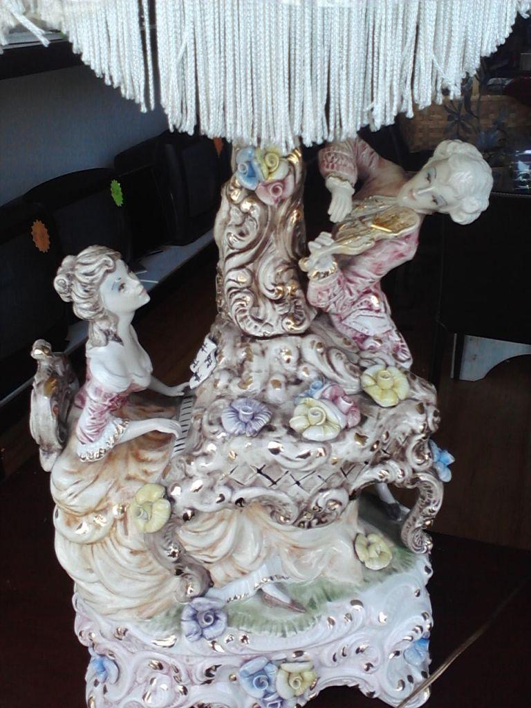Antique porcelain table lamps - Bellissimo Antique Italian Victorian Colonial Porcelain Figural Table Lamps Ebay