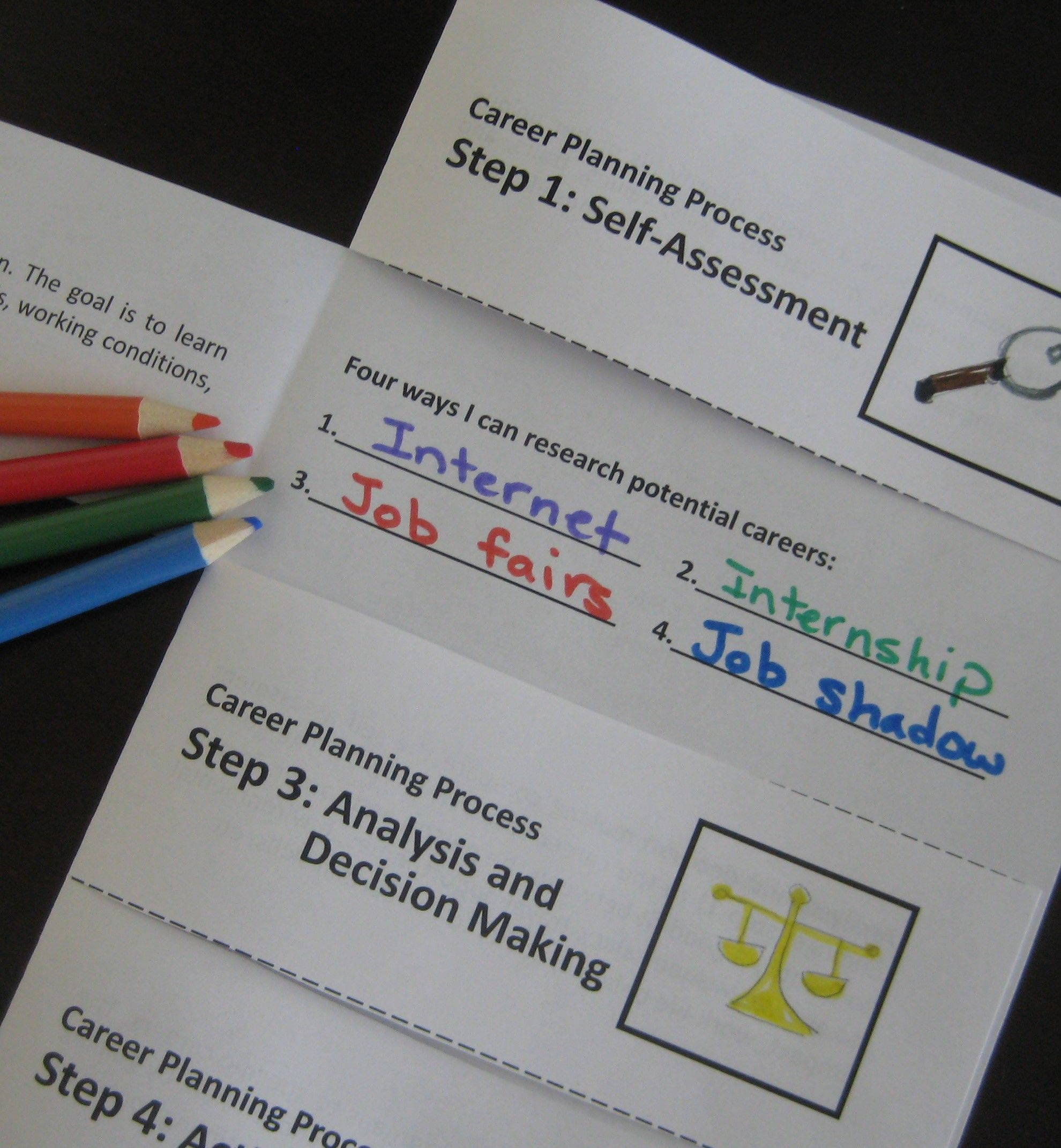 Hands On Career Planning Process Activity Enables Students