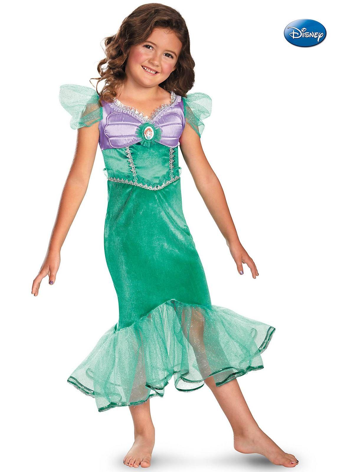 Ariel Sparkle Costume | Girls Disney Princess Costumes | My Favorite ...