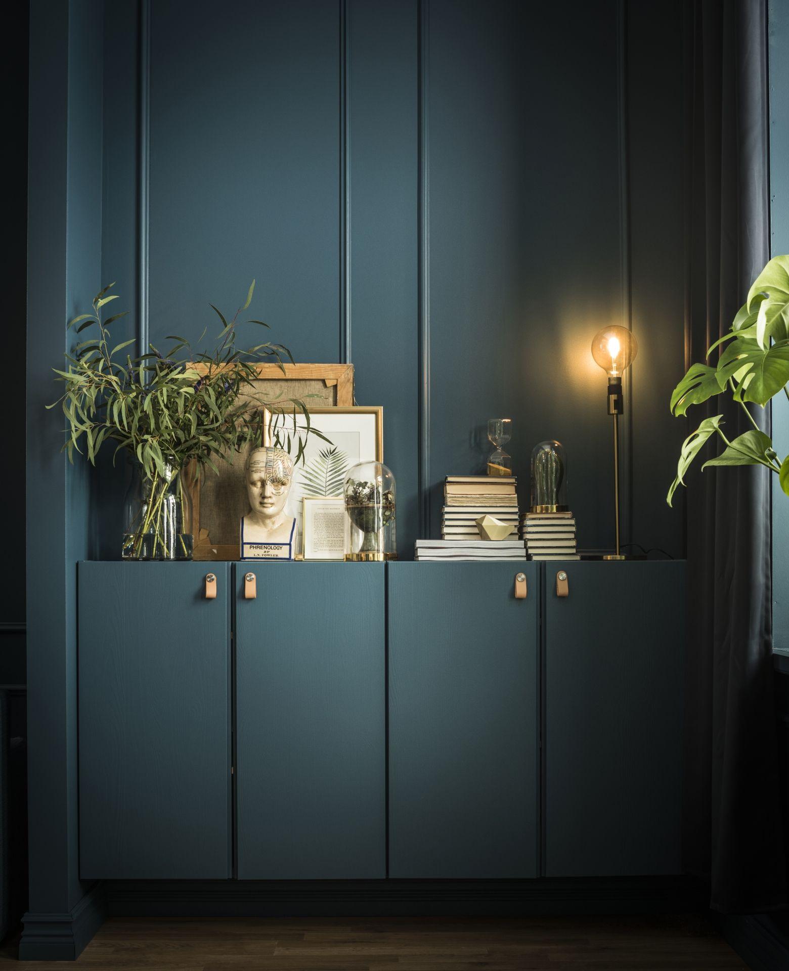 ikea deutschland ivar kannst du auch passend zur wandfarbe streichen mit den ledergriffen. Black Bedroom Furniture Sets. Home Design Ideas