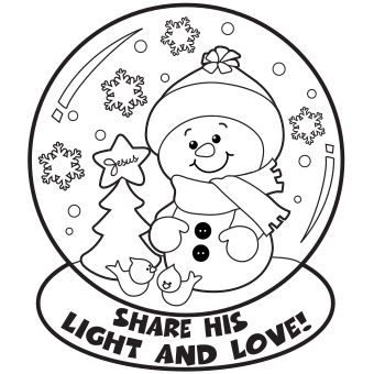 Snow Globe Coloring Page Christmas Coloring Sheets Snowman Coloring Pages Christmas Snow Globes
