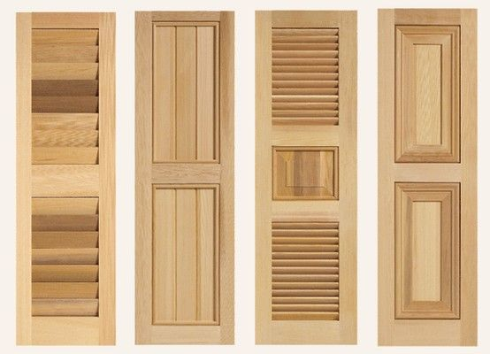 Different premium wood combination shutters from for Spanish style interior shutters